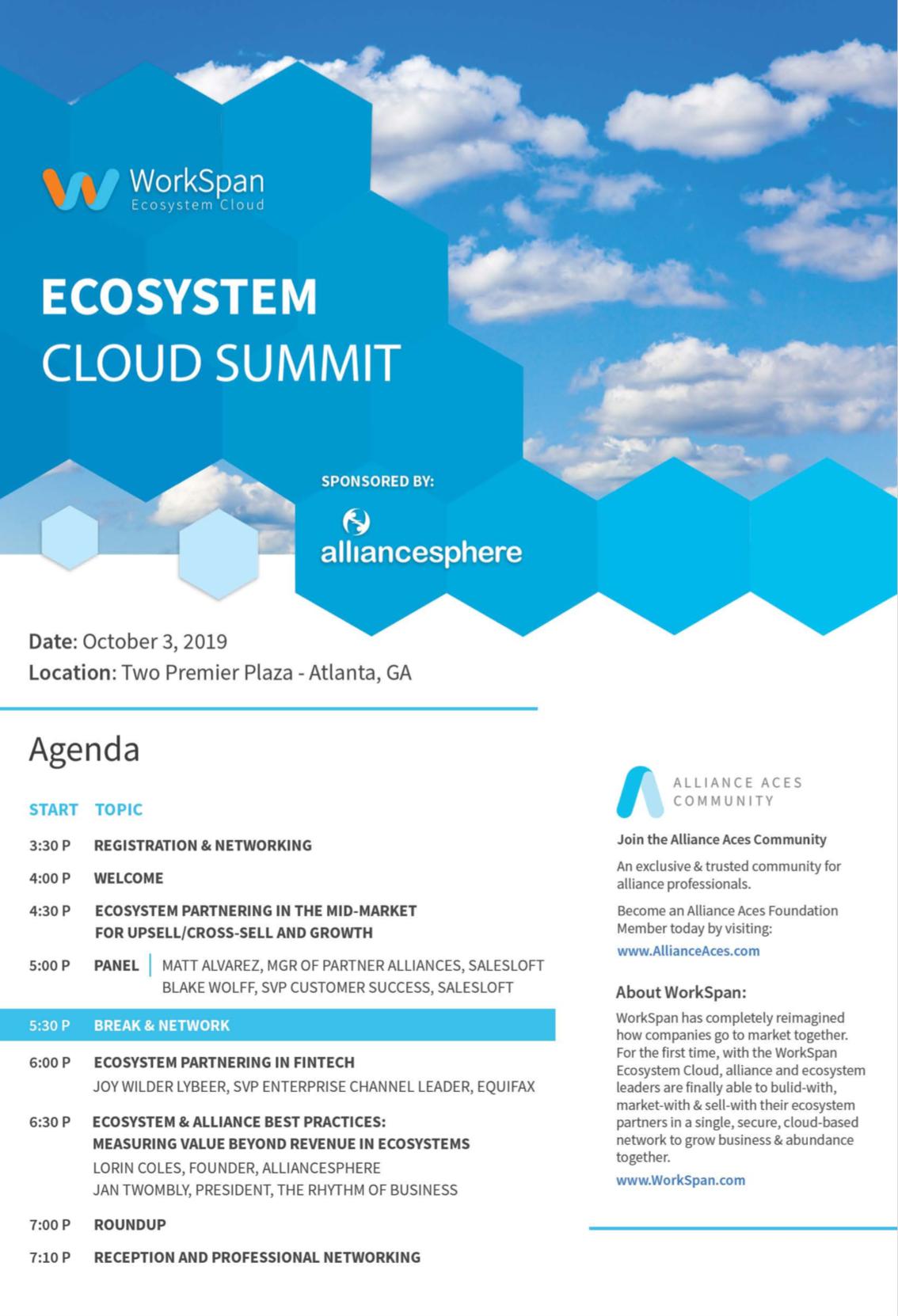 Ecosystem Cloud Summit Atlanta Agenda Image